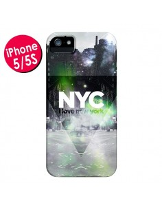 Coque I Love New York City Vert pour iPhone 5 et 5S - Javier Martinez