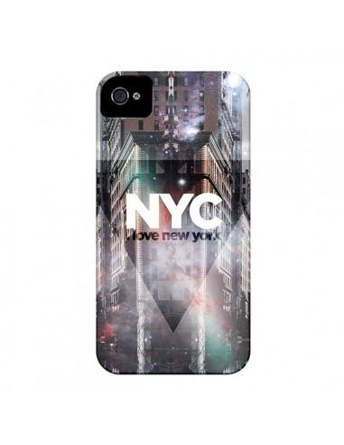 Coque I Love New York City Violet pour iPhone 4 et 4S - Javier Martinez