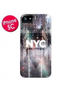 Coque I Love New York City Violet pour iPhone 5C - Javier Martinez