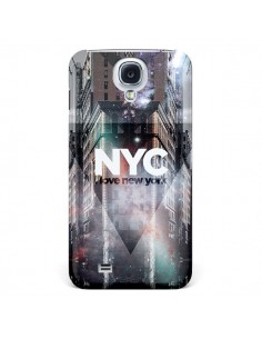 Coque I Love New York City Violet pour Samsung Galaxy S4 - Javier Martinez