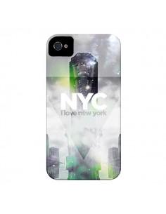 Coque I Love New York City Gris Vert pour iPhone 4 et 4S - Javier Martinez