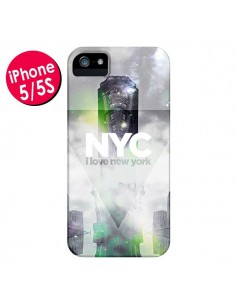 Coque I Love New York City Gris Vert pour iPhone 5 et 5S - Javier Martinez