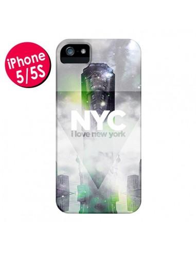 Coque I Love New York City Gris Vert pour iPhone 5 et 5S - Javier Martinez