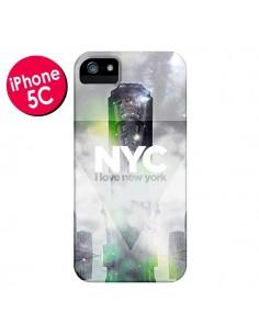Coque I Love New York City Gris Vert pour iPhone 5C - Javier Martinez