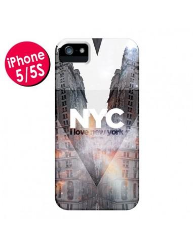Coque I Love New York City Orange pour iPhone 5 et 5S - Javier Martinez
