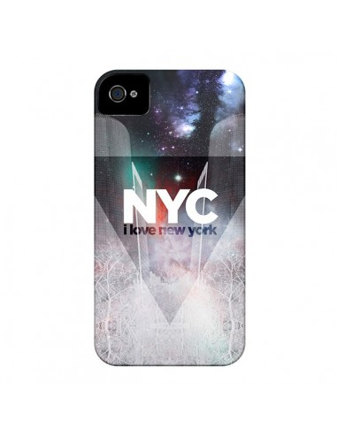 Coque I Love New York City Bleu pour iPhone 4 et 4S - Javier Martinez
