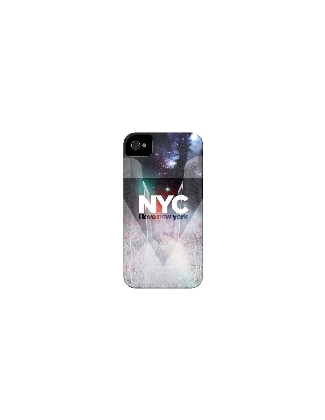 Coque iPhone 4 et 4S I Love New York City Bleu - Javier Martinez