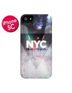 Coque I Love New York City Bleu pour iPhone 5C - Javier Martinez