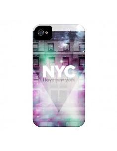 Coque I Love New York City Violet Vert pour iPhone 4 et 4S - Javier Martinez
