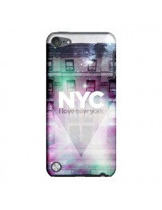 Coque I Love New York City Violet Vert pour iPod Touch 5 - Javier Martinez