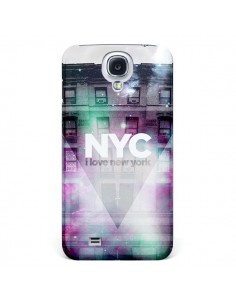 Coque I Love New York City Violet Vert pour Samsung Galaxy S4 - Javier Martinez
