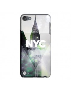 Coque I Love New York City Gris Violet Vert pour iPod Touch 5 - Javier Martinez