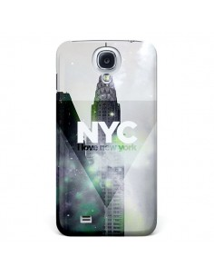 Coque I Love New York City Gris Violet Vert pour Samsung Galaxy S4 - Javier Martinez