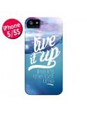 Coque Last Time Bleu pour iPhone 5 et 5S - Javier Martinez