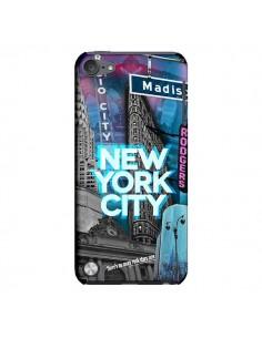 Coque New York City Buildings Bleu pour iPod Touch 5 - Javier Martinez