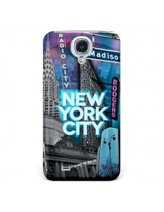 Coque New York City Buildings Bleu pour Samsung Galaxy S4 - Javier Martinez