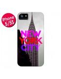 Coque New York City Rose Rouge pour iPhone 5 et 5S - Javier Martinez