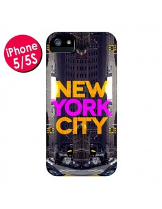 Coque New York City Orange Violet pour iPhone 5 et 5S - Javier Martinez