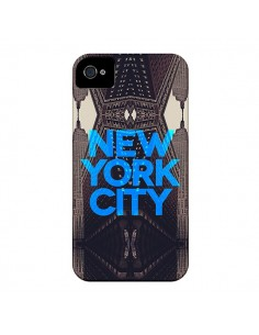 Coque New York City Bleu pour iPhone 4 et 4S - Javier Martinez