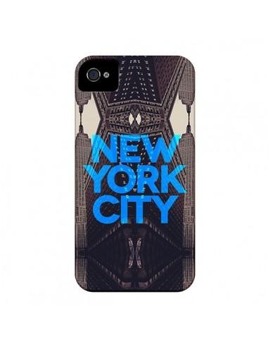 Coque New York City Bleu pour iPhone 4 et 4S - Javier Martinez