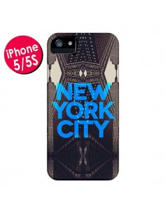 Coque New York City Bleu pour iPhone 5 et 5S - Javier Martinez