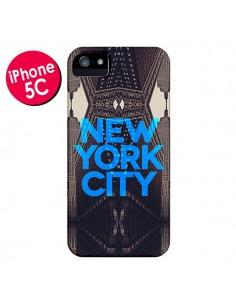 Coque New York City Bleu pour iPhone 5C - Javier Martinez