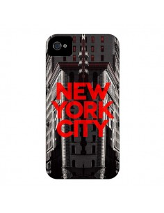 Coque New York City Rouge pour iPhone 4 et 4S - Javier Martinez