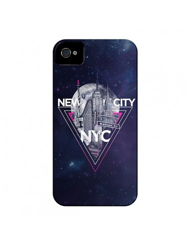 Coque New York City Triangle Rose pour iPhone 4 et 4S - Javier Martinez