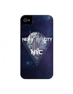 Coque New York City Triangle Bleu pour iPhone 4 et 4S - Javier Martinez