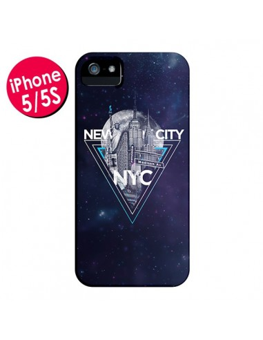 Coque New York City Triangle Bleu pour iPhone 5 et 5S - Javier Martinez