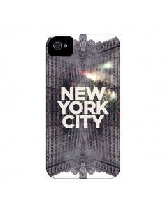 Coque New York City Gris pour iPhone 4 et 4S - Javier Martinez