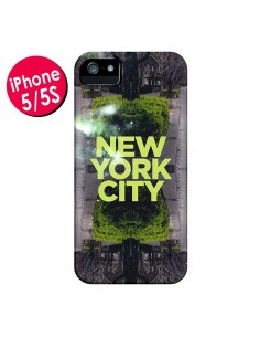 Coque New York City Vert pour iPhone 5 et 5S - Javier Martinez