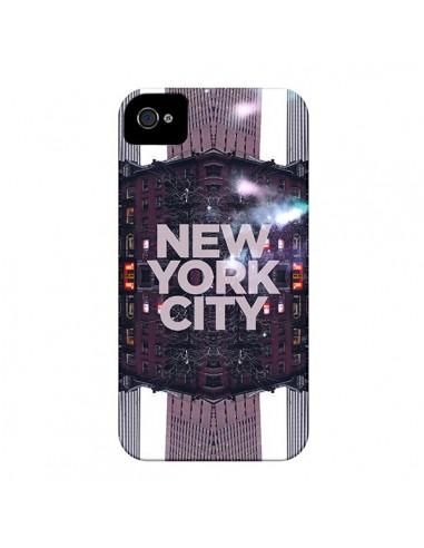 Coque New York City Violet pour iPhone 4 et 4S - Javier Martinez