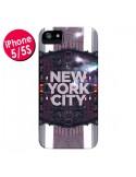 Coque New York City Violet pour iPhone 5 et 5S - Javier Martinez