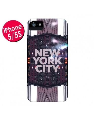 Coque iPhone 5/5S et SE New York City Violet - Javier Martinez