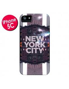 Coque New York City Violet pour iPhone 5C - Javier Martinez