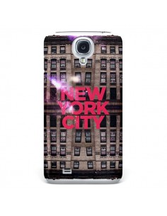 Coque New York City Buildings Rouge pour Samsung Galaxy S4 - Javier Martinez