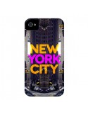 Coque New York City Orange Violet pour iPhone 4 et 4S - Javier Martinez