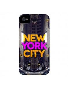 Coque New York City Orange Violet pour iPhone 4 et 4S - Javier Martinez