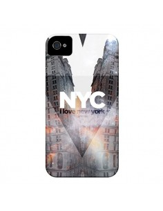 Coque I Love New York City Orange pour iPhone 4 et 4S - Javier Martinez