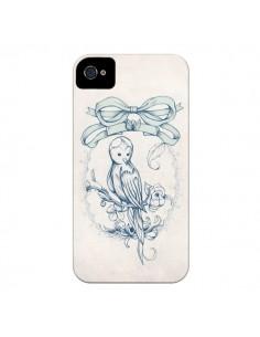 Coque Bird Oiseau Mignon Vintage pour iPhone 4 et 4S - Lassana