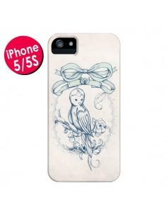 Coque Bird Oiseau Mignon Vintage pour iPhone 5 et 5S - Lassana