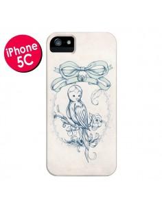Coque Bird Oiseau Mignon Vintage pour iPhone 5C - Lassana