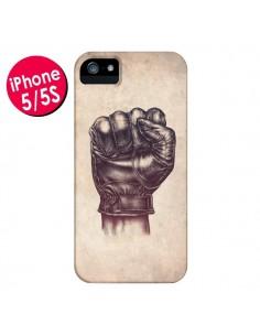 Coque Fight Poing Cuir pour iPhone 5 et 5S - Lassana