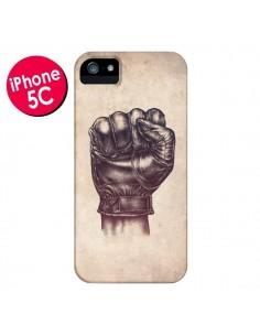 Coque Fight Poing Cuir pour iPhone 5C - Lassana