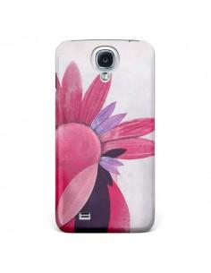 Coque Flowers Fleurs Roses pour Samsung Galaxy S4 - Lassana