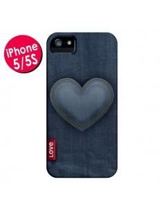 Coque Love Coeur en Jean pour iPhone 5 et 5S - Lassana