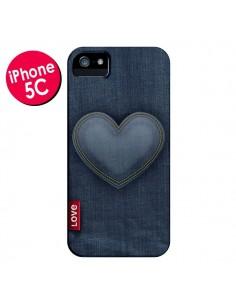 Coque Love Coeur en Jean pour iPhone 5C - Lassana