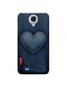 Coque Love Coeur en Jean pour Samsung Galaxy S4 - Lassana
