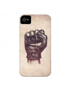 Coque Fight Poing Cuir pour iPhone 4 et 4S - Lassana